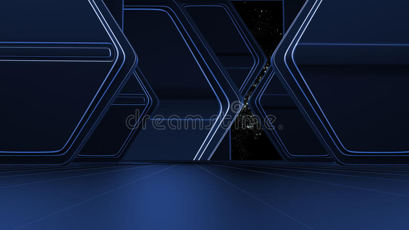 Space environment, ready for comp of your characters.3d. Space environment, ready for comp of your characters vector illustration