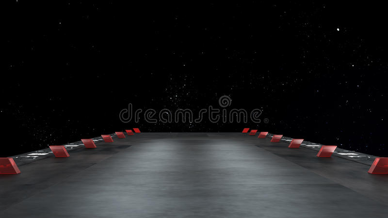 Space environment, ready for comp of your characters. 3d render royalty free illustration