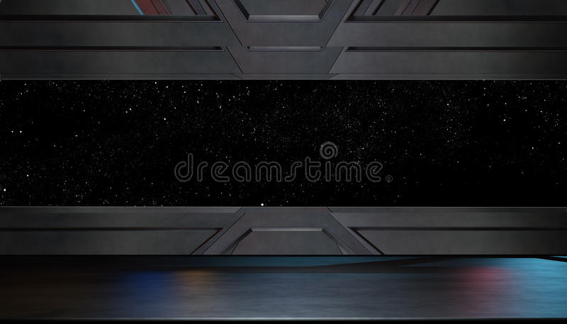 Space environment, ready for comp of your characters.3D render. Space environment, ready for comp of your characters royalty free illustration