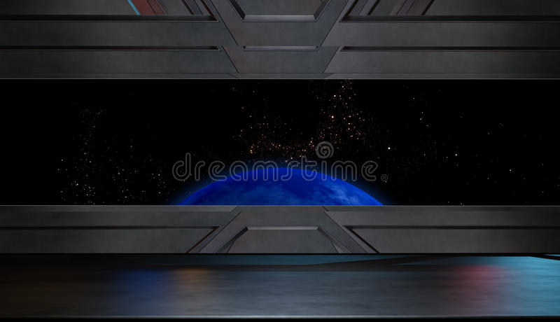 Space environment, ready for comp of your characters.3D render. Space environment, ready for comp of your characters vector illustration