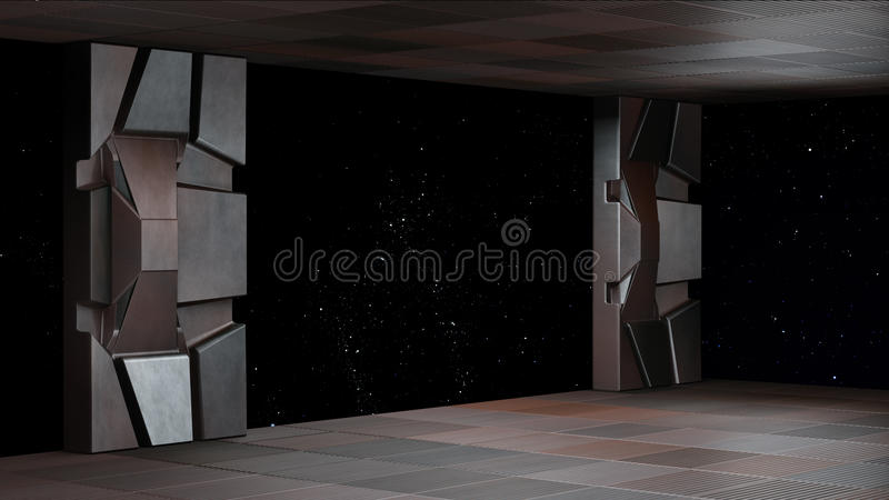 Space environment, ready for comp of your characters 3D render. Space environment, ready for comp of your characters.3d rendering vector illustration