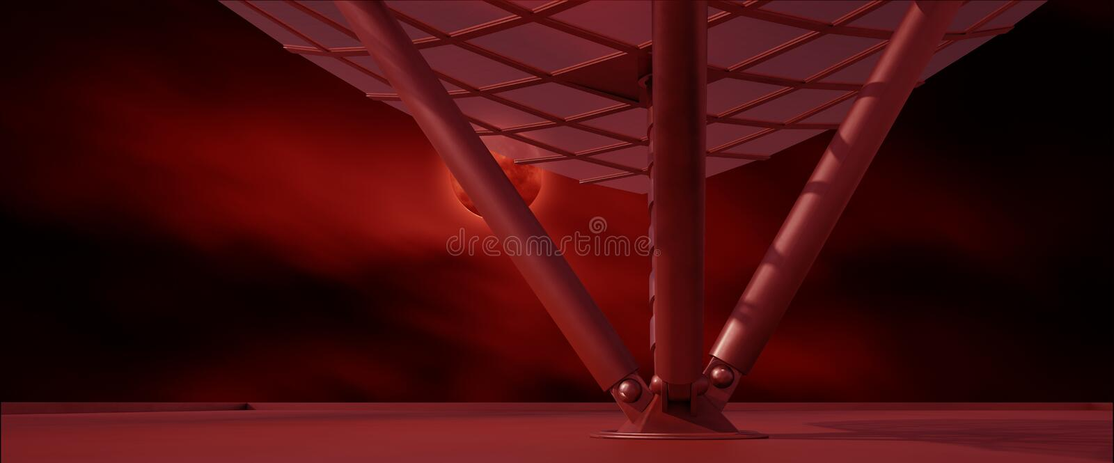 Space environment ready for comp of your characters 3D render. Ing vector illustration