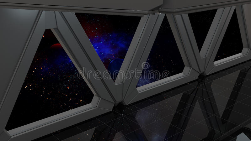 Space environment, ready for comp of your characters.3D render. Ing vector illustration