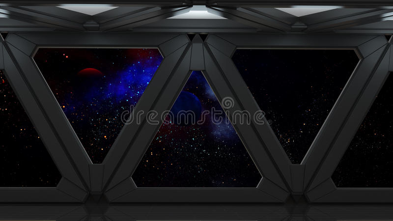 Space environment, ready for comp of your characters.3D render. Ing royalty free illustration