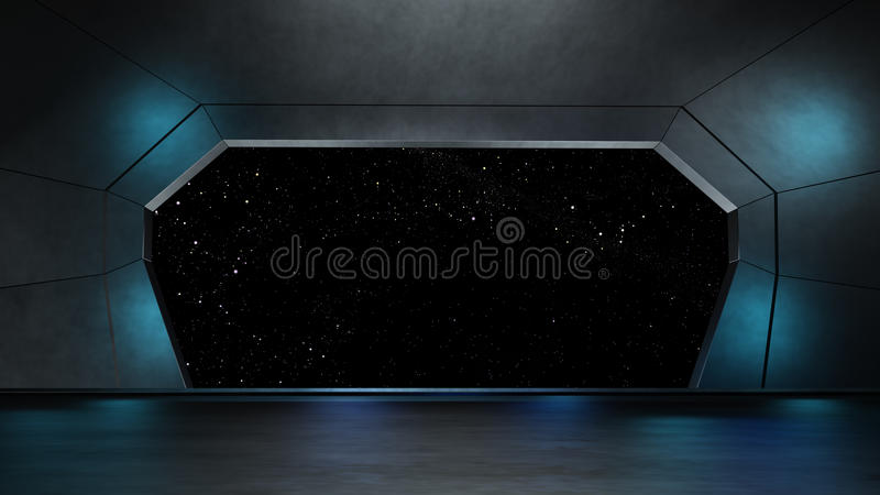 Space environment, ready for comp of your characters.3D rendering. Space environment, ready for comp of your characters royalty free illustration