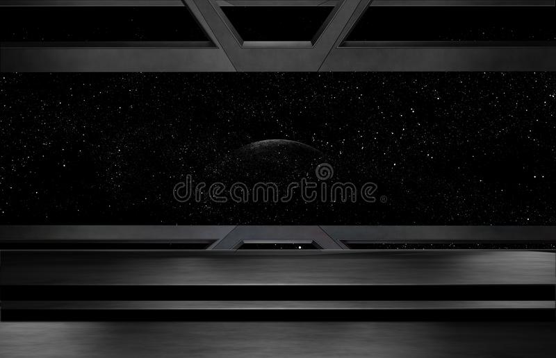 Space environment, ready for comp of your characters.3D rendering stock illustration