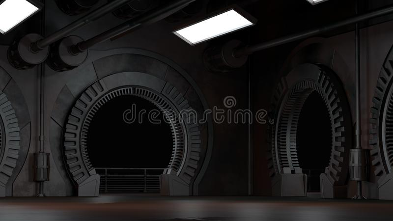 Space environment, ready for comp of your characters.3D rendering. Space environment, ready for comp of your characters.High resolution 3D rendering vector illustration