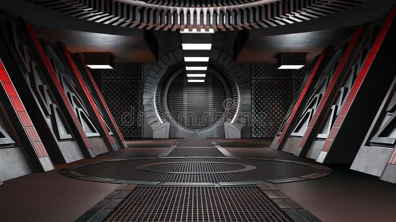 Space environment, ready for comp of your characters.3D rendering. Space environment, ready for comp of your characters.High resolution 3D rendering stock illustration