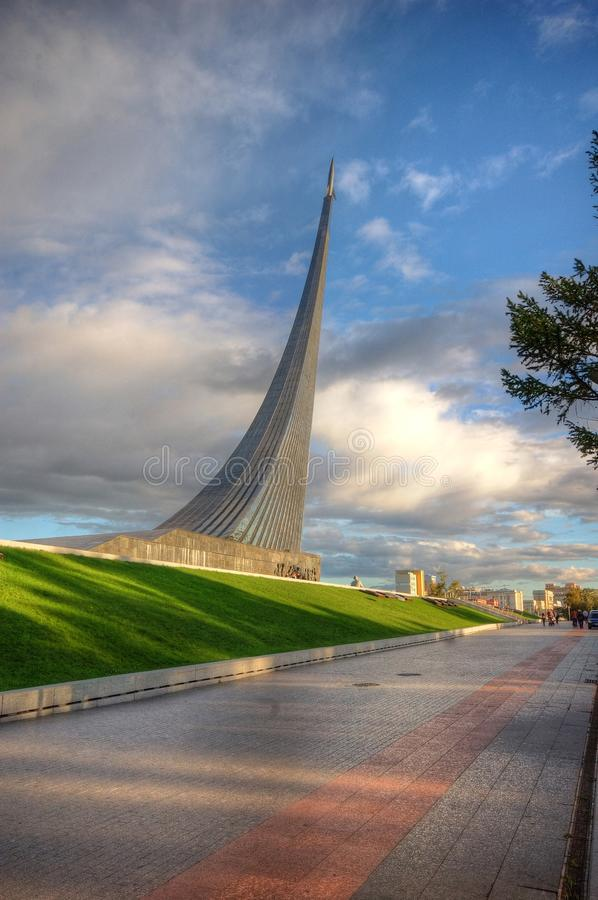 The Space Exploration Monument. Russia, Moscow royalty free stock photo