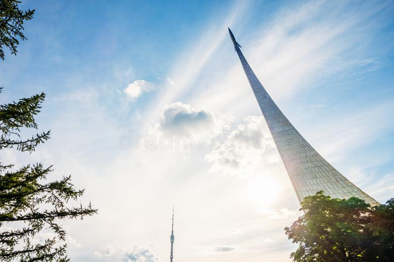 The Space Exploration Monument. Russia, Moscow stock image