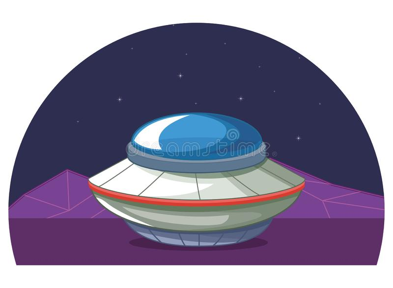 Space exploration and planets cartoon stock illustration