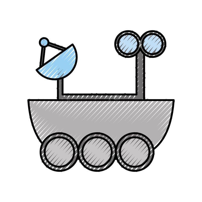 Space explorer car icon stock illustration
