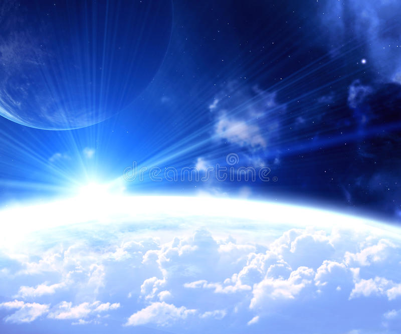 Space flare stock illustration