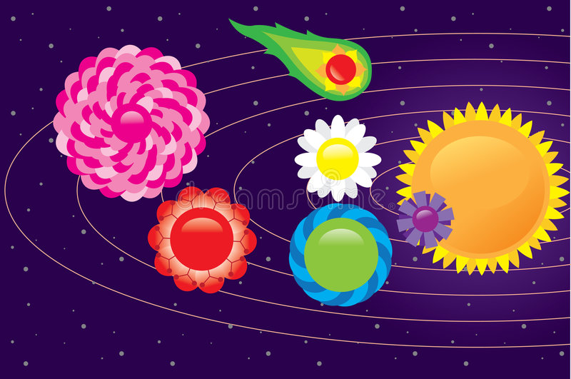 Download Space flower 2 stock vector. Illustration of astrology - 8526303
