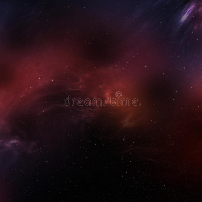 Landscape with Milky way galaxy stock illustration