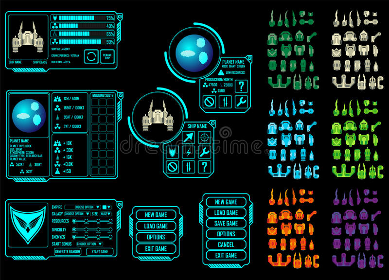 Space game asset stock vector image 58531971 for Design your own space