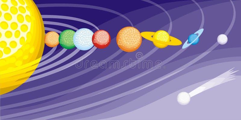 Download Space-golf stock vector. Illustration of balls, multi - 13953192