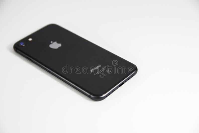 Space Gray Iphone 8 stock photo