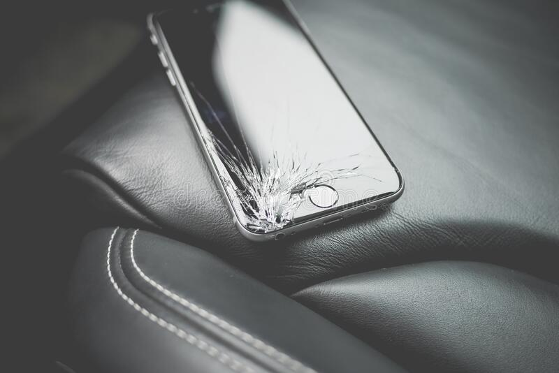Space Gray Iphone 6 stock image