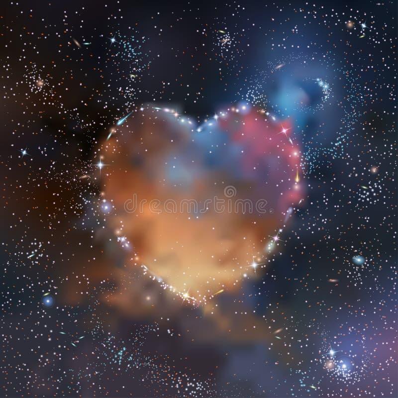 Space heart vector illustration