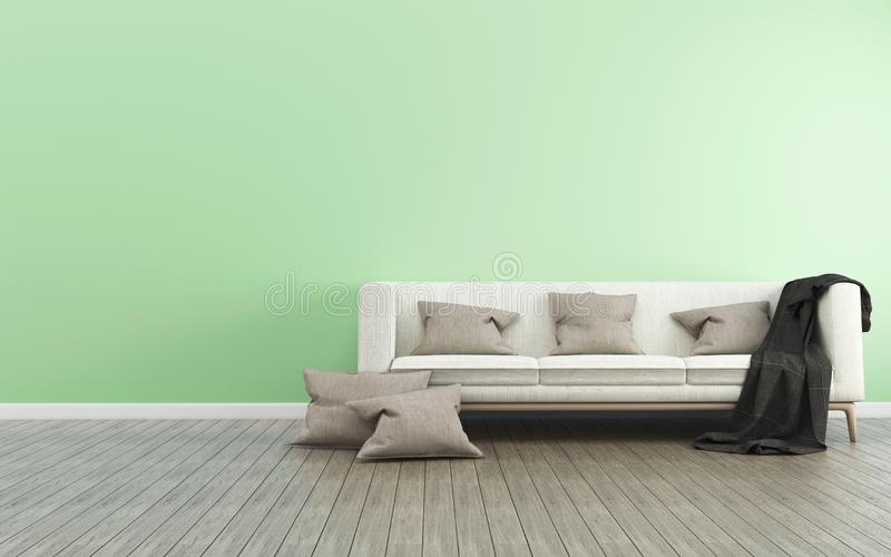 Space in house modern style vector illustration