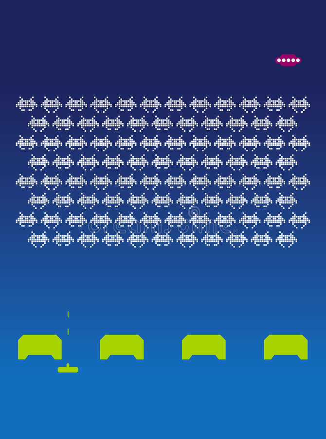 Space Invaders royalty free illustration
