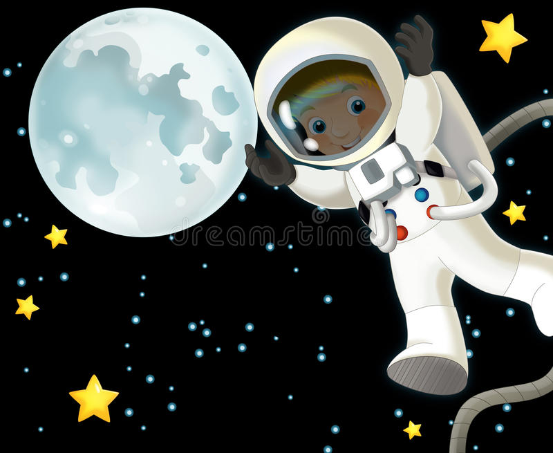 Download The Space Journey - Happy And Funny Mood - Illustration For The Children Stock Illustration - Illustration of child, astronaut: 32388910