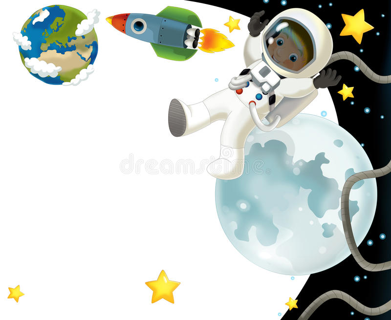 Download The Space Journey - Happy And Funny Mood - Illustration For The Children Stock Illustration - Image: 32389111