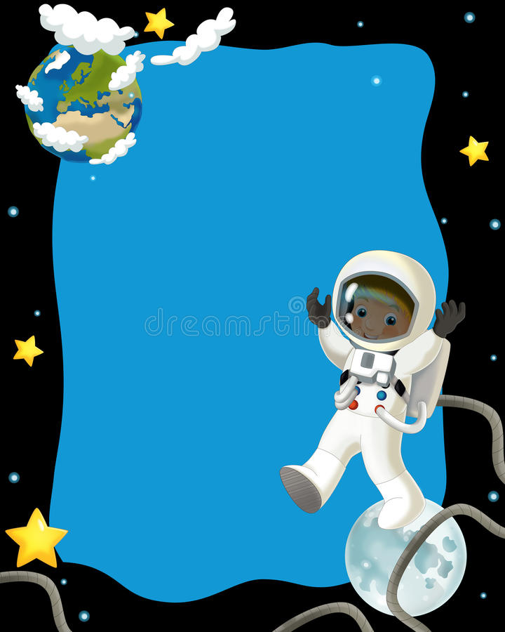 Download The Space Journey - Happy And Funny Mood - Illustration For The Children Stock Illustration - Image: 32389847