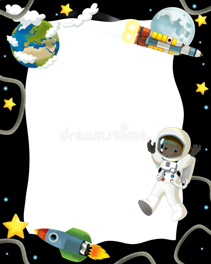 Download The Space Journey - Happy And Funny Mood - Illustration For The Children Stock Illustration - Image: 32389891