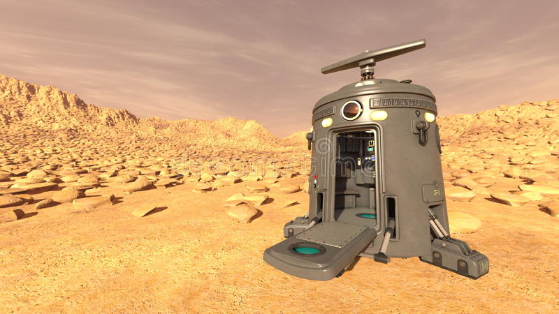 Space lander. 3D CG rendering of a space lander royalty free stock photography