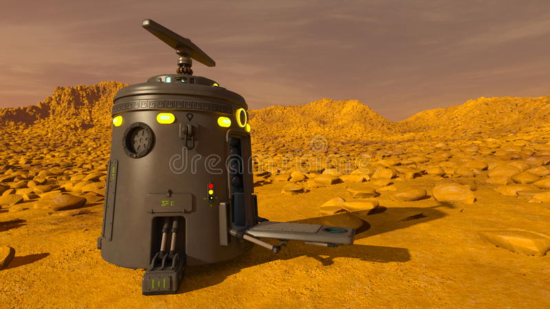 Space lander. 3D CG rendering of a space lander royalty free stock images