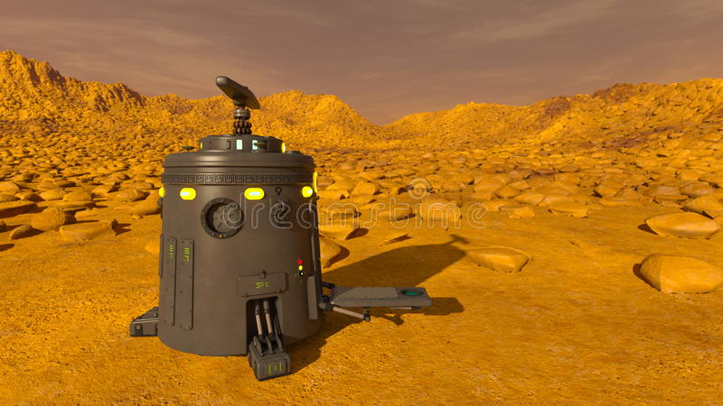 Space lander. 3D CG rendering of a space lander royalty free stock photos