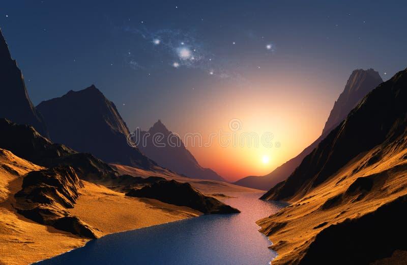 Space landscape royalty free illustration