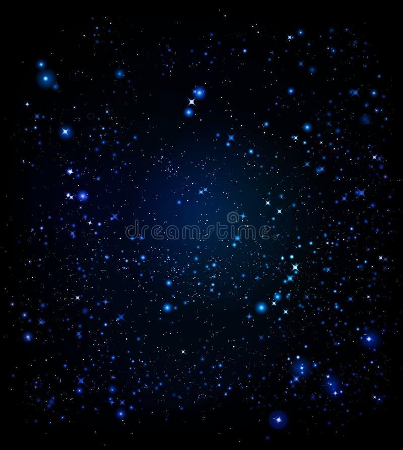 Space. Light and bright stars of deep dark and infinite  sesvitu royalty free illustration