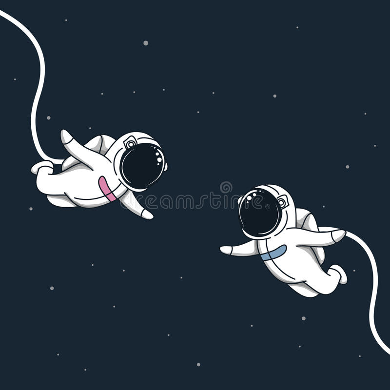 Space love story stock illustration