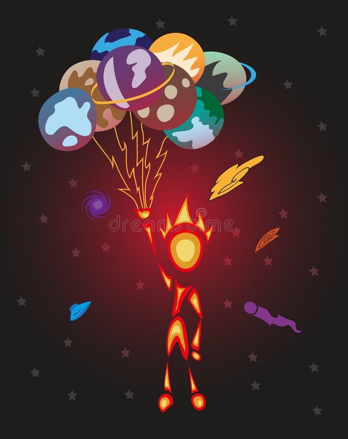 Download Space man stock vector. Image of astronaut, image, orange - 25939121