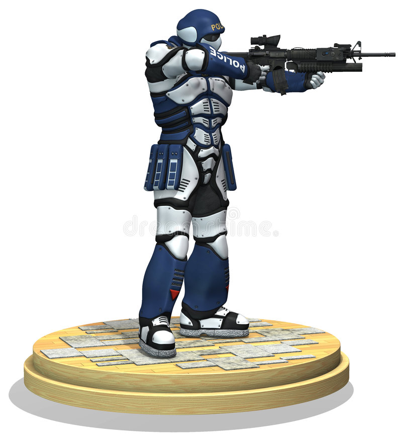 Free Space Marine Soldier. Police Force Royalty Free Stock Photo - 7945355