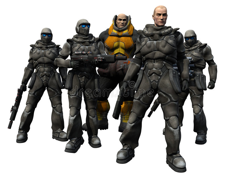 Download Space Marine Squad Royalty Free Stock Photo - Image: 5890325
