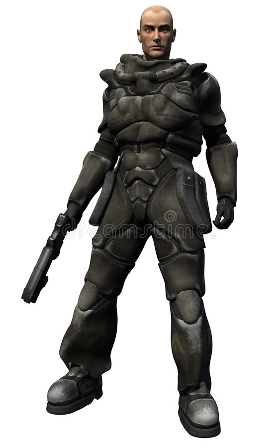 Download Space Marine Squad Leader stock illustration. Image of sergeant - 5916789