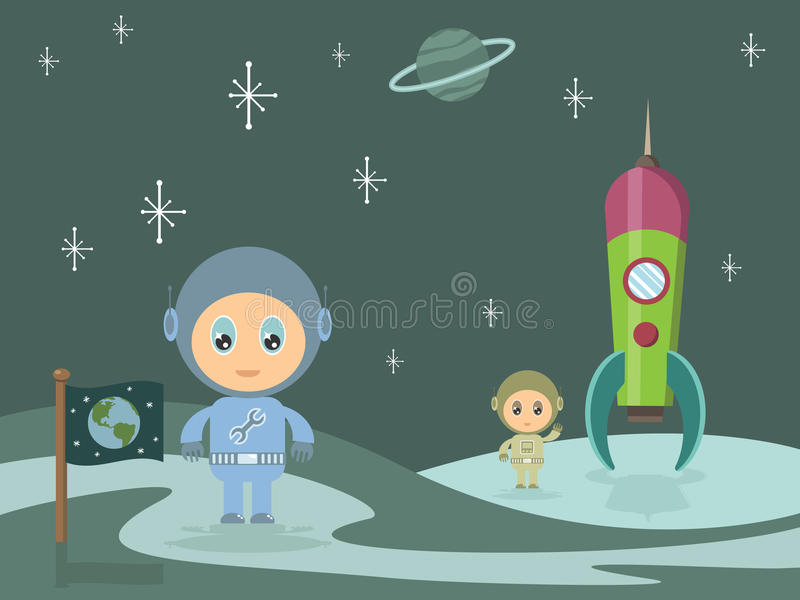 Space men stock illustration