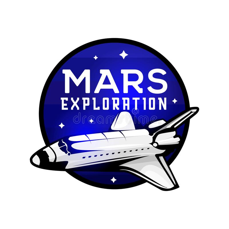 Space mission to Mars vector illustration stock vector stock illustration