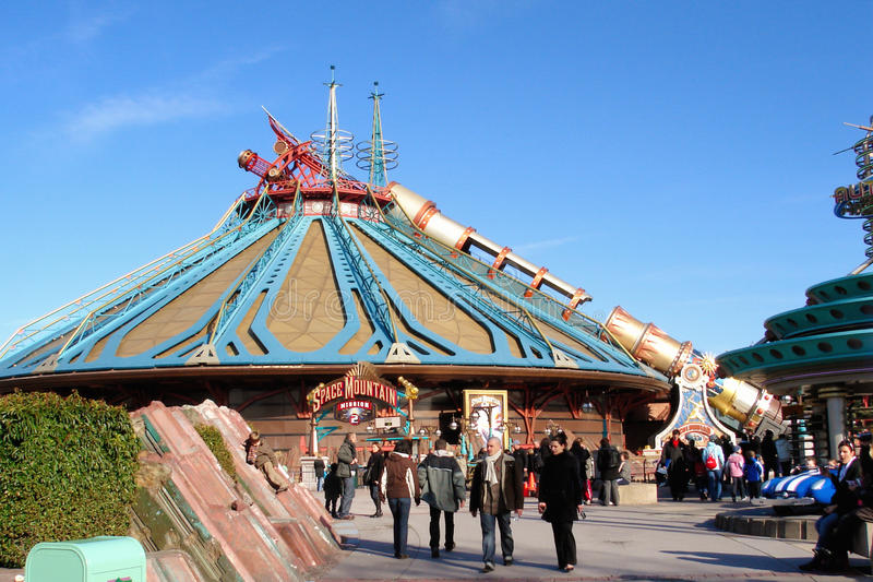 Download Space Mountain attraction editorial photography. Image of europe - 18505787