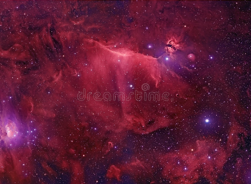 Space Nebula royalty free illustration