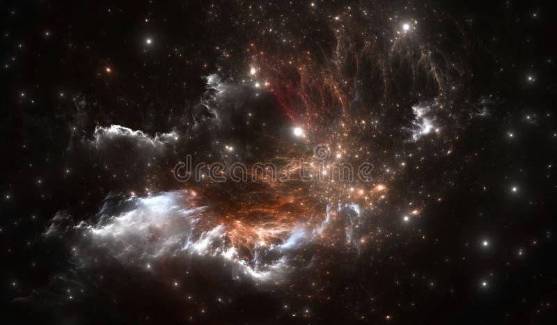Space nebula. Space background with nebula and stars. Illustration vector illustration