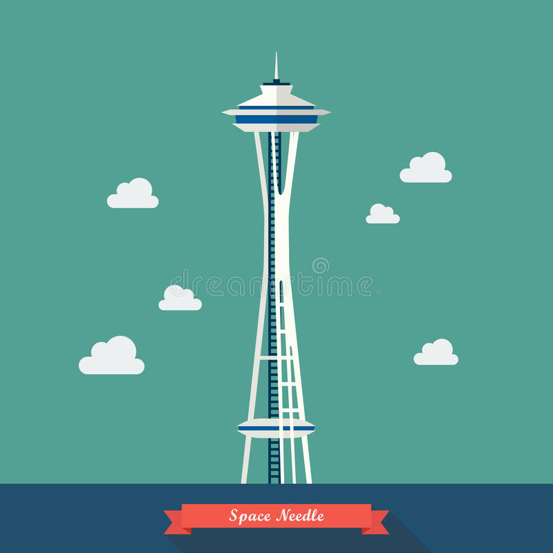 Space Needle. Observation tower stock illustration