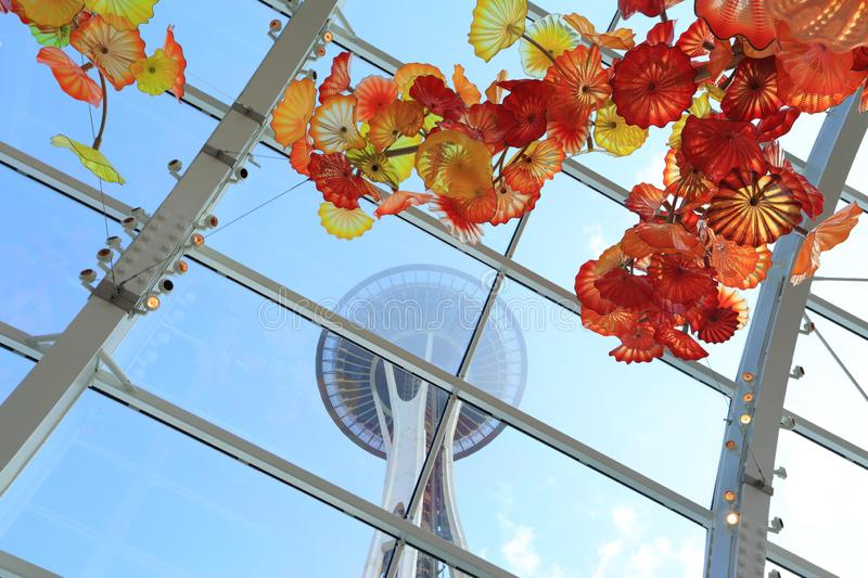 The space needle, Seattle stock photography