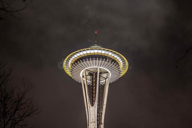 The Space Needle Tower in Seattle royalty free stock image