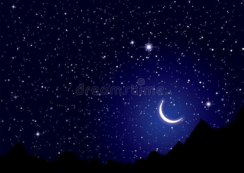 Space nights sky vector illustration
