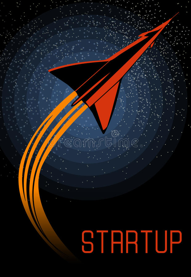 Space oddity. Rocket launch and text. Vector image retro black and white movie style. Space oddity. Rocket launch and text. Vector image royalty free illustration